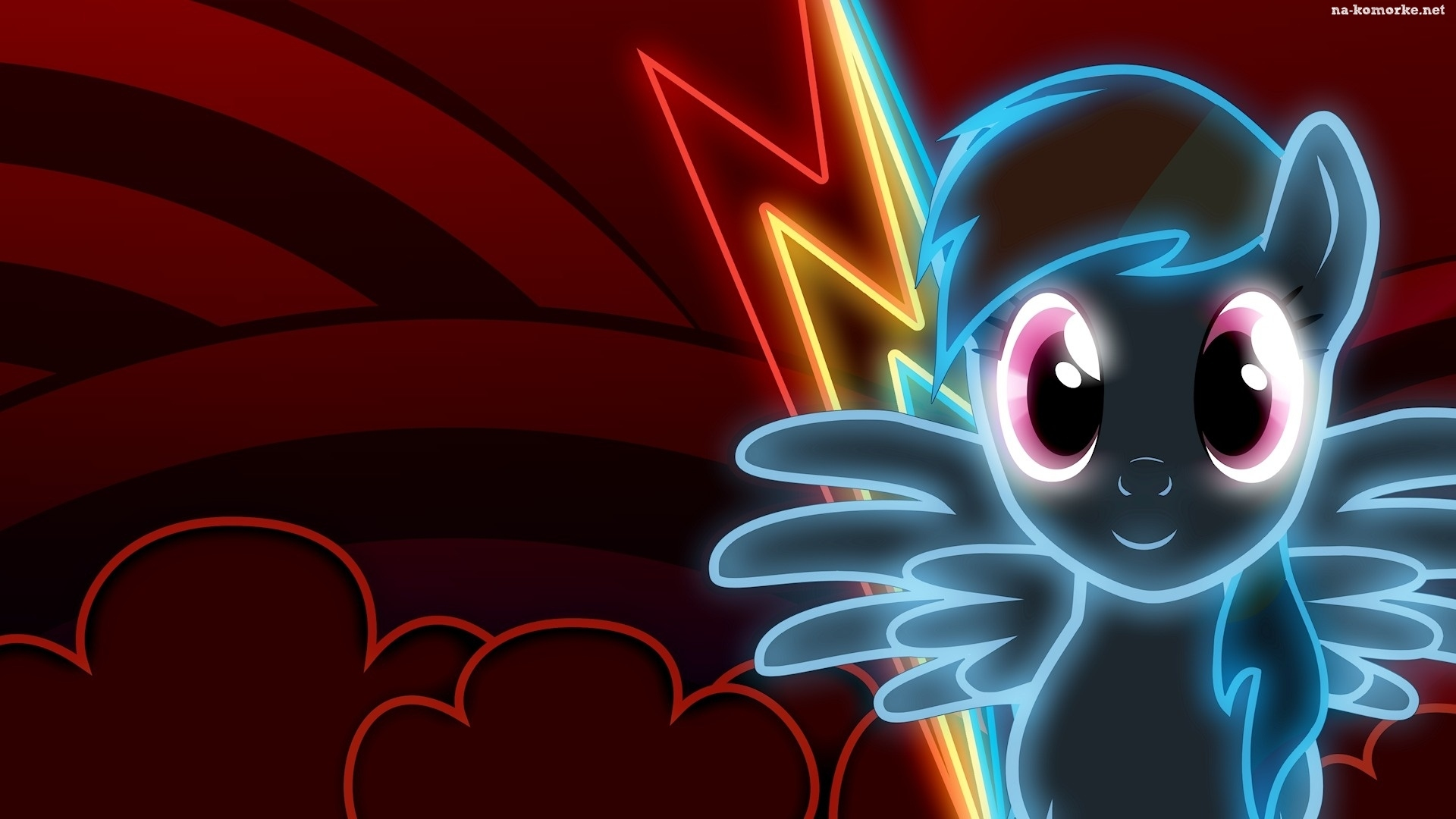 Little Pony Przyja Magia Rainbow Dash Kom