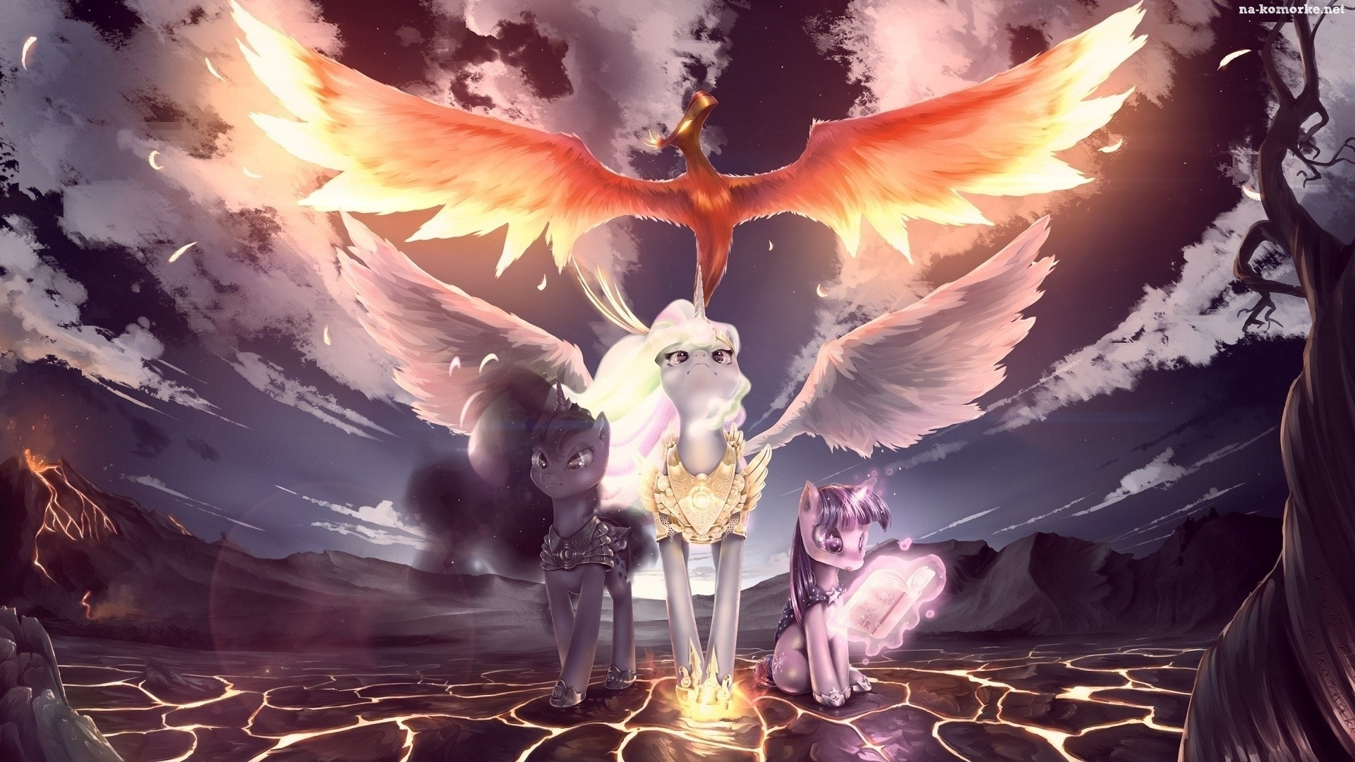 My Little Pony, Twilight Sparkle, Celestia, Luna