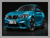 Niebieskie, BMW M2 Coupe Long Beach Blue Metallic, 2016