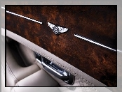 Emblemat, Bentley Arnage, Drewno