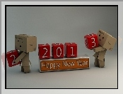 Happy, Danbo, New Year, 2013