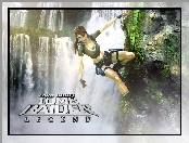 Lara Croft, Tomb Raider Legend, Wodospad