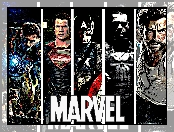 Heroes, Marvel, Kapitan Ameryka, Iron Man, Wolverine, Bohaterzy, X Men, Superman, Punisher