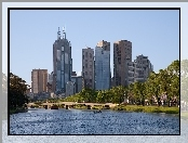 Melbourne, Architektura, Woda, Most