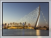 Most, Erasmus Bridge, Rotterdam, Holandia