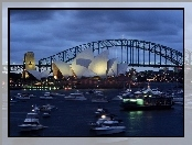 Sydney Opera House, Australia, Sydney, Zatoka Port Jackson, Most Sydney Harbour Bridge