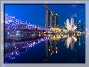 Singapur, Marina Bay Sands, Most, Noc