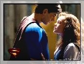 zbliżenie, Superman Returns, Brandon Routh, Kate Bosworth, logo