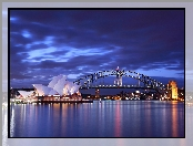 Zatoka Port Jackson, Australia, Sydney, Sydney Opera House, Most Sydney Harbour Bridge