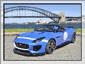 Niebieski, Rozmyte, F-type, Tło, Jaguar, Project 7, Most, Sydney
